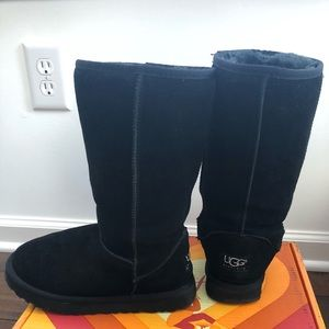 Black Ugg Boots - barely worn!